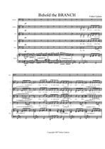 Behold the Branch (Piano-Vocal Score)